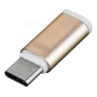 USB 3.1 Type-C Male to Micro USB Female Adapter - Rose Gold + White