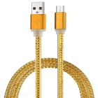 Cwxuan Anti-Tear USB 3.1 Type C to USB 2.0 Braided Data Sync & Charging Cable - Golden Yellow (1m)