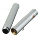 1mW 532nm Green Laser Pointer Pen - Silver (2 x AAA)