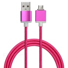 Magnetic Detachable Transformable Micro USB Braided Charging Data Cable for Android Phone -Deep Pink