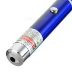 1mW 532nm Green Laser Pointer Pen - Blue + Silver (2 x AAA)