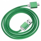 Magnetic Detachable Transformable Micro USB Braided Charging Data Cable for Android Phone - Green