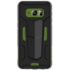 NILLKIN Stronger II Series TPU + PC Back Cover Case for Samsung Galaxy S6 Edge Plus - Black + Green
