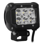 18W 6-LED off-road 4WD UTV conduzindo lâmpada worklight bar spot feixe