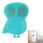 Cute Owl Style Retro Wooden Fridge Magnet - Blue