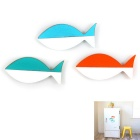 Fish Style Fridge Magnets - White + Blue + Multicolor (3PCS)