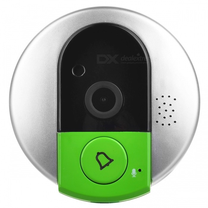 VSTARCAM 720P HD Wi-Fi Remote Doorbell DoorcamDoorbells<br>Form ColorSilver + GreenMaterialABSQuantity1 PieceVoice Decibels&gt;39dBPower AdaptorYesPower SupplyOthers,DC 5VBattery included or notNoPower Adapter US Plugs Rate Voltage5VRated Current1 APacking List1 x Wi-Fi Doorbell1 x 5V/1A US Plugs AC 100-240V Power Adapter1 x 120mm USB Cable1 x Installation kit1 x English User Guide<br>
