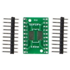 Dual-Side SOP20 / SSOP20 / TSSOP20 SMD a DIP20 Junta adaptador w / Gold-Plated Pin Headers para Arduino