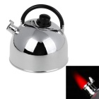 Kettle Type Windproof Lighter Gift Crafts Tricky Butane Refill Lighter - Silver