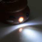 Novel Feces Design White Light LED Keychain w/ Sound Effect - Coffee + Black (3 x AG3)