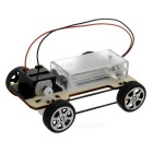Pulley Belt Four-Wheel Drive Car Kit Educational DIY Hobby Robotic Toy - Black + Multicolor (2 x AA)