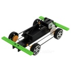 Pulley Belt Four-Wheel Drive Car Kit Educational DIY Hobby Robotic Toy - Black (2 x AA)