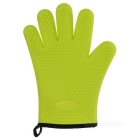 Heat Resistant Silicone Cotton Microwave Oven Glove - Green