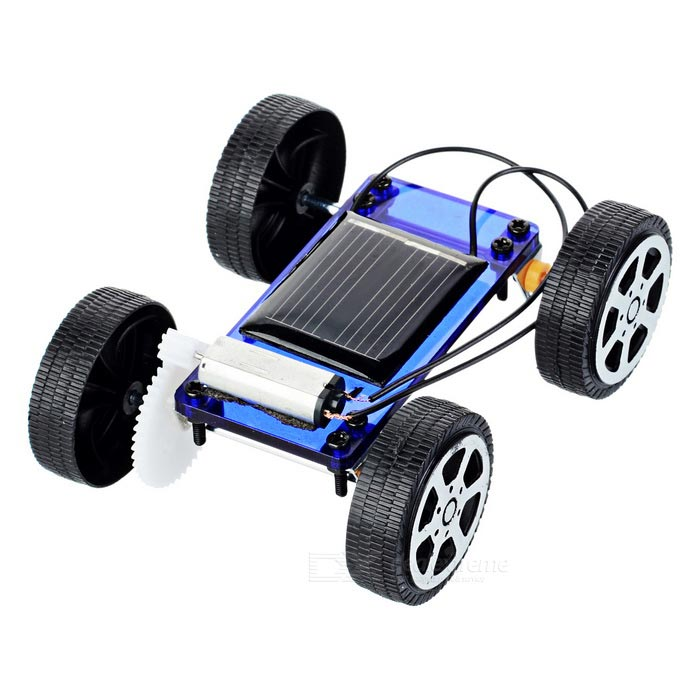 DIY Montering Educational Plast Solar Powered Car Leksak - Blå + Svart