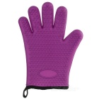 Heat Resistant Silicone Cotton Microwave Oven Glove - Purple