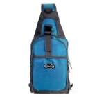 CTSmart Outdoor Cycling Travel Hiking Sling Chest Pack Messenger Bag Backpack - Blue + Grey