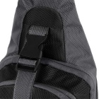 CTSmart Outdoor Cycling Travel Hiking Sling Chest Pack Messenger Bag Backpack - Black + Grey
