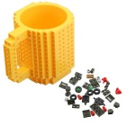 DIY Creative Building Block Puzzle Mug - Yellow