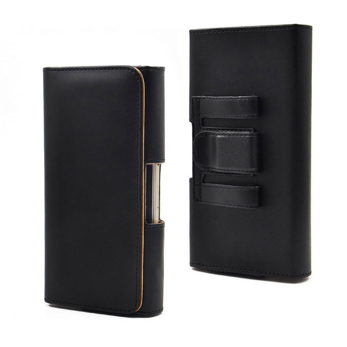 Smooth Waist Hanged Mobile Phones Protective PU Leather Case for IPHONE 6 PLUS / 6S Plus - Black
