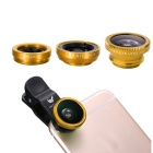 OldShark® 0.67X Universal Clip-on 3 em 1 Fish Eye Lens + Kit de Ângulo Amplo + Micro Lens para iPhone & More