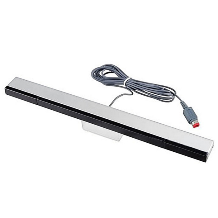 Infrared Ray Inductor Sensor Bar for Wii - Black + Silver