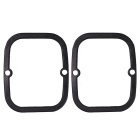 Silicone deriva Board Skate guardas laterais / Borda Protetores Set - Preto (2pcs)