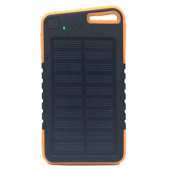 Chargeur de batterie Li-polymère à énergie solaire 5V 5000mAh Power Battery w / Flashlight