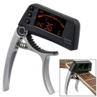"Meideal TCapo20C 1.5"" LCD Capo & Tuner for Classical Guitar / Banjo / Ukulele - Silver White + Black"