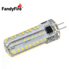 FandyFire G4 7W Dimmable LED Light Bulb Lamp Warm White 3000K 800lm 72-SMD 3014 (AC 220V)