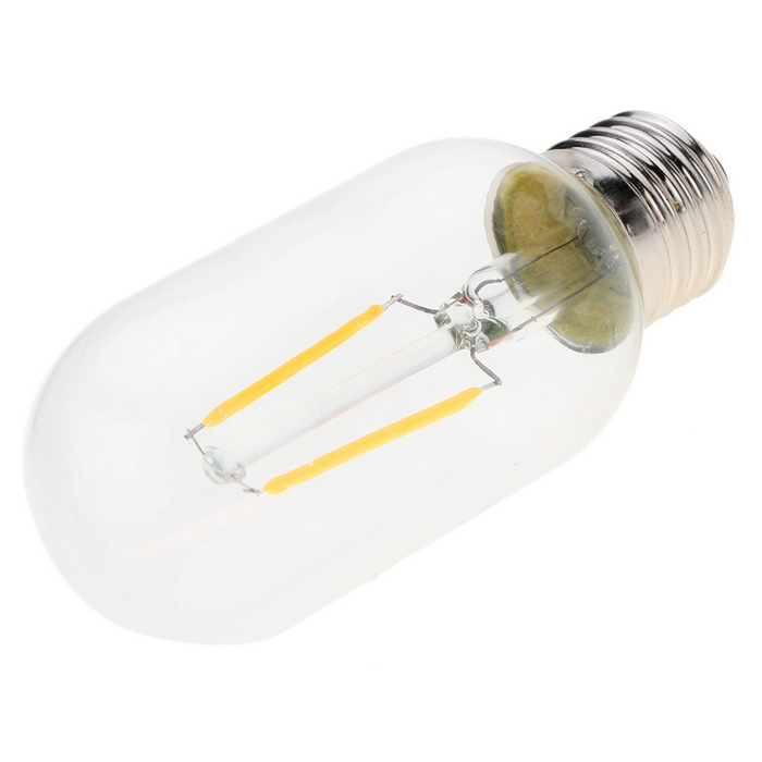 2W LED T45 Filament Bulb AC 220V E27 Base 20W Equivalent Vintage Retro Warm White 2200K