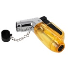 Fashion Transparent Windproof Gas Lighter - Yellow