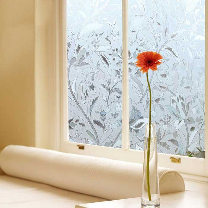 Non adhesive frosted window film static cling privacy for Decoration fenetre ikea