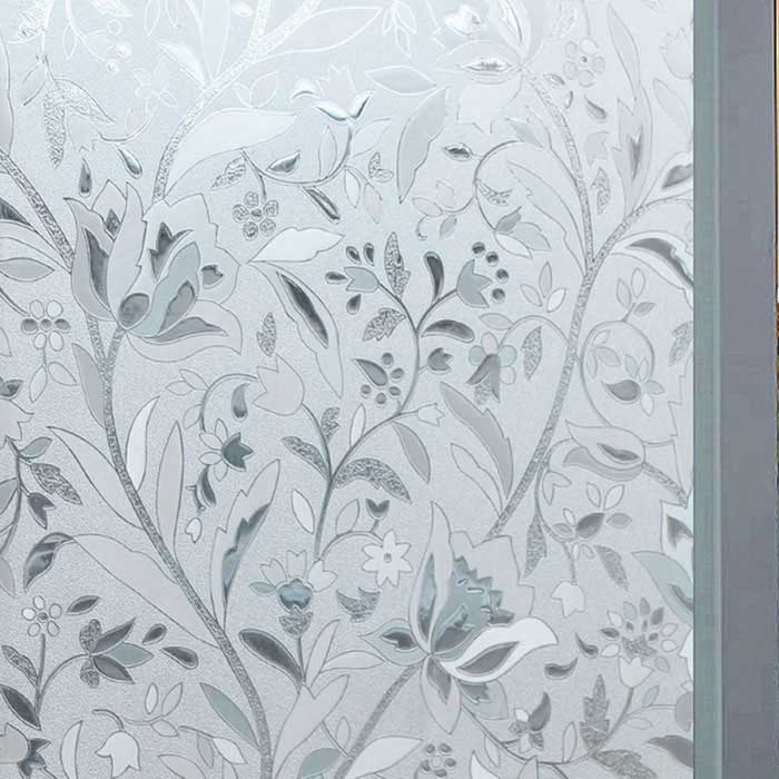 Non Adhesive Frosted Window Film Static Cling Privacy