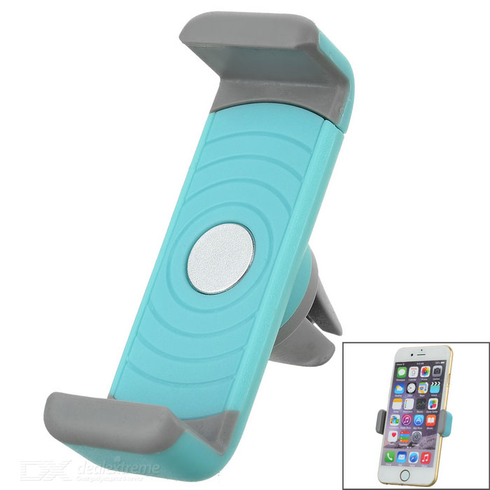 Lengthened 360' Rotatable Car Air Conditioner Outlet Mount Holder for Cellphone - Blue + Grey