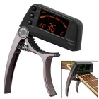 "Meideal TCapo20C 1.5"" LCD Capo & Tuner for Classical Guitar / Banjo / Ukulele - Coffee + Black"