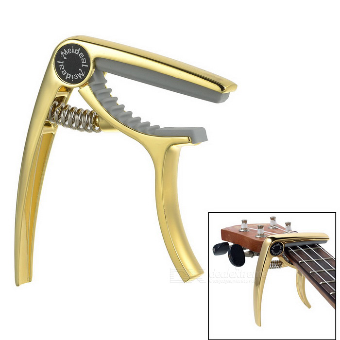 Meideal MC10U Alloy Capo Clamp for Ukulele - Golden