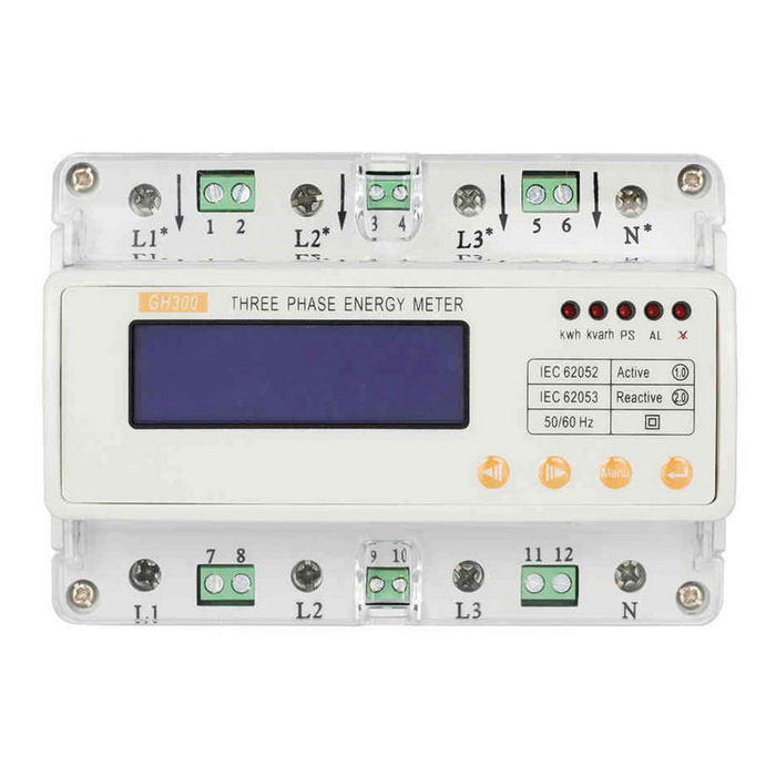 GHTS300-Phase Four-Wire Guide Meter / Liquid Multi Rate Electric Power Meter / Watt-Hour Meter