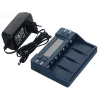 "BT-C900 Intelligent Battery Charger w/ 2.4"" Screen, 4 Slots for 9V Ni-MH Battery - Blue (EU Plug)"