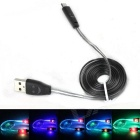 Smiling Face Micro USB Male to USB Male Data Charging Cable - Black  (95cm)