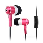 3.5mm In-Ear Earphones Headphones w/ Wire Control & Mic for IPHONE / Samsung + More - Deep Pink