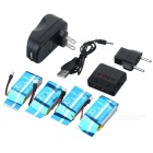 X4A-A06 4-750mAh Batteries + 1-to-4 Charger + TOL Converter + Charger + Data Cable Set