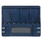 "BT-C900 Intelligent Battery Charger w/ 2.4"" Screen, 4 Slots for Ni-MH Battery - Dark Blue (US Plug)"