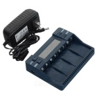 "BT-C900 Intelligent Battery Charger w/ 2.4"" Screen, 4 Slots for Ni-MH Battery - Dark Blue (US Plugs)"