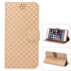 MO.MAT Gird Pattern Luxury PU Leather Wallet Case for IPHONE 6 Plus / 6S PLUS - Brown
