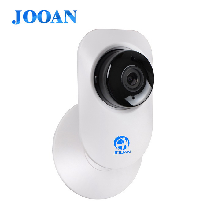 JOOAN A5 720p HD Two-way Audio IP Camera w/ SD Card Recording - WhiteIP Cameras<br>Form  ColorWhite + BlackPower AdapterEU PlugMaterialABSQuantity1 DX.PCM.Model.AttributeModel.UnitImage SensorCMOSImage Sensor SizeOthers,1/4Pixels720PLens3.6mmVideo Compressed FormatH.264Picture Resolution1280*720Night VisionYesIR-LED Quantity11Night Vision Distance10 DX.PCM.Model.AttributeModel.UnitWireless / WiFi802.11 b / g / nNetwork ProtocolTCP,IP,UDP,SMTP,FTP,DHCP,NTP,DDNS,uPnPSupported SystemsWindows 2000,2003,XP,7Supported BrowserIE 6.0 and above,Google Chrome,Firefox,OperaOnline Visitor4Mobile Phone PlatformAndroid,iOSFree DDNSYesIR-CUTYesMemory CardTF CardMax. Memory Supported64GBSupported LanguagesEnglish,Simplified ChineseRate Voltage5VRated Current1 DX.PCM.Model.AttributeModel.UnitCertificationROHS CEPacking List1 x Webcam1 x 5V/1A Power adapter (1M-cable)1 x English instruction<br>