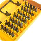 37-in-1 Multi-Bit Screwdrivers Set - Black + Yellow