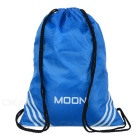 MOON M025 Outdoor Cycling Reflective Drawstring Double-Shoulder Bag Backpack - Blue
