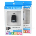 T-636 USB 3.1 Type-C Micro SD Card Readers for Phone / Laptop / Tablet - White + Black (2PCS)