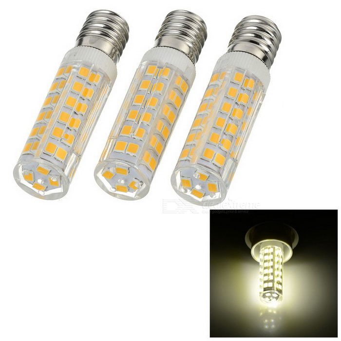 JRLED E14 9W 76-2835 SMD 700lm 3200K Warm White Light Ceramic Lights (3PCS / AC 220V)