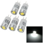 G4 2W 2-5730 SMD 120lm 6000K White Light Crystal Lamp / Corridor Lamp / Decorative Lamp (5PCS)